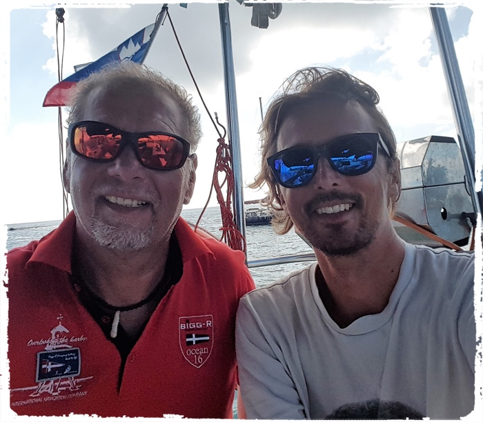 Two captains from Slovenia in San Blas