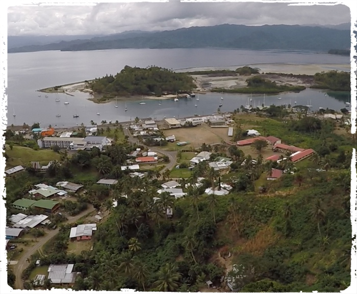 Savusavu as seen from the drone perspective