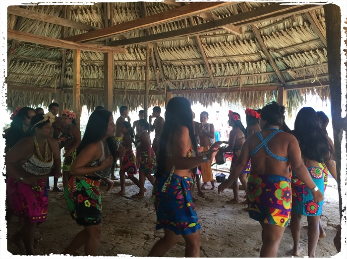 Dance for good winds by Embera people