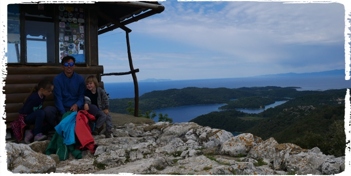 The top of Montekuc and Mljet lakes in the background
